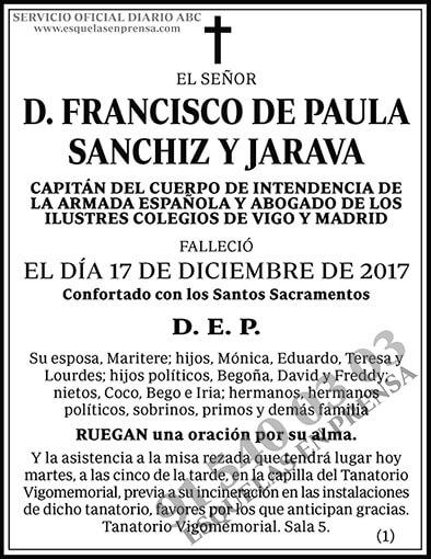 Francisco de Paula Sanchiz y Jarava
